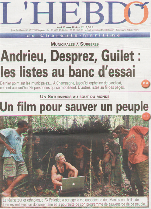 un article de Carine Fernandez (L'hebdo de Charente-maritime du 20 mars 2014)