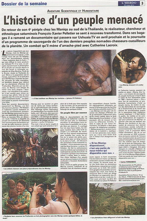 """Notre documentaire """"Nous resterons en forêt"""" sera diffusé sur Ushuaia TV très prochainement."""
