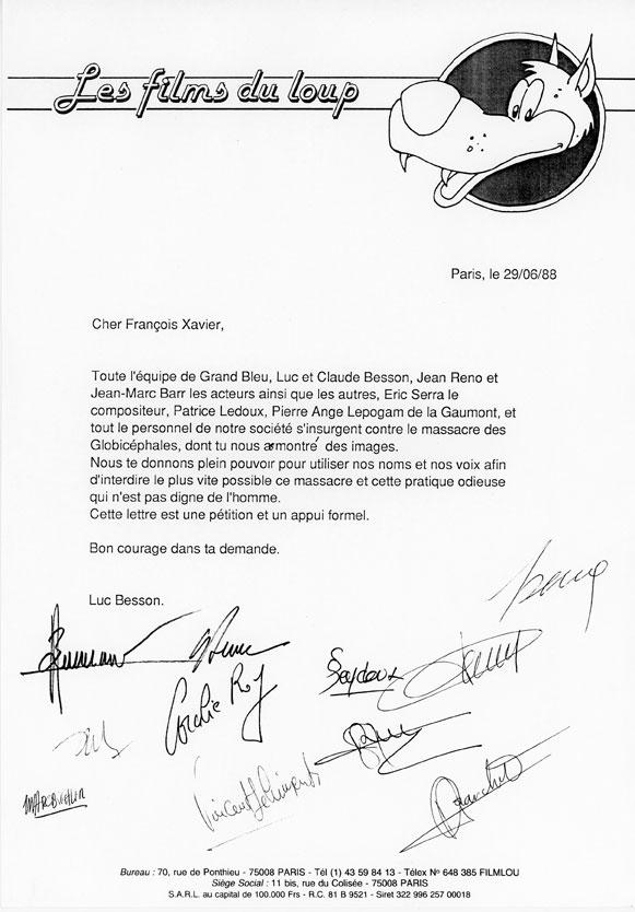 Soutien de l'équipe du Grand bleu contre le massacre des globicéphales aux iles Féroé